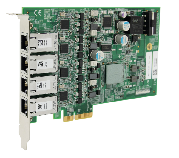 4-port GigE, PoE, PCIe, Low-profile, /Intel® I350-AM4
