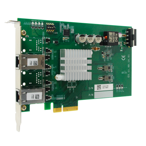 2-port GigE, PoE, PCIe, /Intel® I350