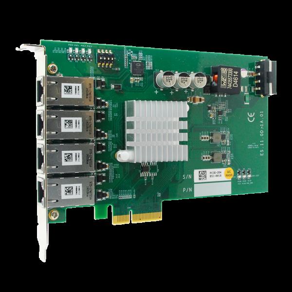 4-port Ethernet PoE PCIe-Karte, Intel® I350